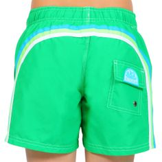 PANTALONCINO MARE SUNDEK #KIDS, #Pantaloncino per il #mare e la #piscina della #Sundek per #bambini e #ragazzi di colore verde, coulisse, tre bande arcobaleno sul retro, taschino, logo. http://www.abbigliamento-bambini.eu/compra/bermuda-mare-boy-sundek-2467328