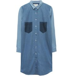 Ganni Chambray Shirt Dress