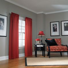 Overstock - These attractive red and black curtain panels are the ...