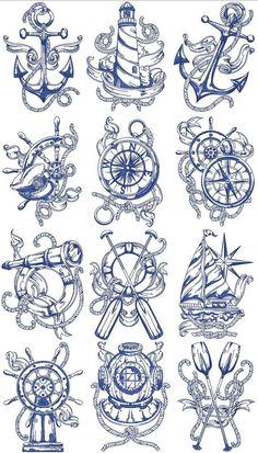 Trendy Tattoo Sleeve Designs Sketches Drawings Compass tattoo old school tattoo arm tattoo tattoo tattoos tattoo antebrazo arm sleeve tattoo Marine Tattoos, Navy Tattoos, Sailor Tattoos, Trendy Tattoos, Navy Anchor Tattoos, Ankle Tattoos, Tattoo Sketches, Tattoo Drawings, Body Art Tattoos
