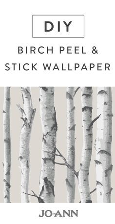 We love the idea of bringing the outdoors in! This DIY Birch Peel and Stick Wallpaper is perfect for just that—and incorporating rustic style into any room of your home. Think of how charming this woodland theme would be in a nursery or den!