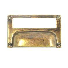 Bosetti-Marella Card Holder Cup/Bin Pull Color: Antique Brass Distressed