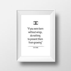 coco chanel print inspirational quotes coco by OrangeKiteLabs Chanel Print, Coco Chanel, Letter Board, Things That Bounce, Inspirational Quotes, Lettering, Wall Art, Unique Jewelry, Handmade Gifts
