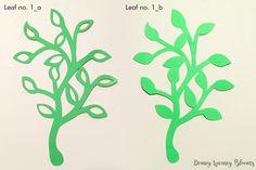 SVG and PDF Digital Leaf Template 1 2 kinds Cricut and