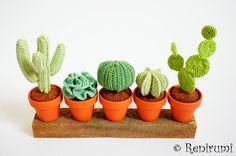 Häkelanleitungen - Häkelanleitung Kaktus Kakteen - ein Designerstück von Renirumi bei DaWanda