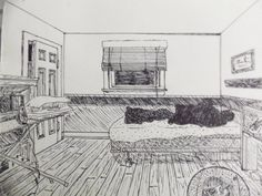 Bedroom Drawing One Point Perspective perspective drawings ~ nata helper | drawing book | pinterest