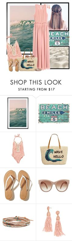 """""""Summer's not over yet!"""" by lulu15emma ❤ liked on Polyvore featuring Pottery Barn, Beach Bunny, Style & Co., Hollister Co., STELLA McCARTNEY and Chan Luu"""