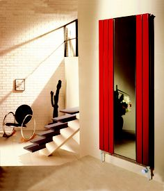 Polar Mirror radiator in red