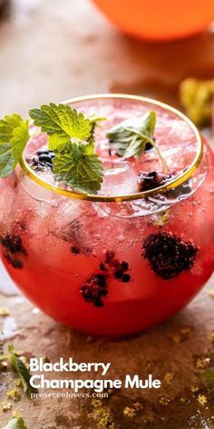 Pass the champagne! Make a refreshing Blackberry Champagne Mule with frozen blackberries, ginger beer, vodka and a splash of champagne!  #Champagne #Champagnecocktails #Champagnedrinks #Champagnetime #Drinks #Cocktails #CocktailHour #CocktailOfTheDay #Craftcocktails #Proseccolovers #Winelovers #Masterofmixes #Barista #Champagnelover #DeliciousDrinks #Wine #Wineoclock #Mixology Frozen Drink Recipes, Sangria Recipes, Beer Recipes, Cocktail Recipes, Champagne Drinks, Vodka Cocktails, Cocktail Drinks, Alcoholic Drinks, Best Summer Cocktails