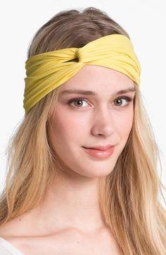 Hair tip: Try a turban headband over wavy locks.