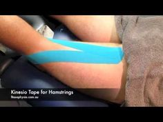 How to Tape a Hamstring with Kinesio Tape   Strapping Tape