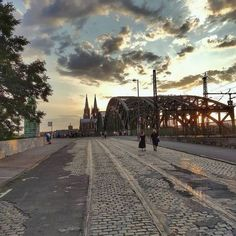 Way to Cologne #Hohenzollernbridge #CologneCathedral #Sunset...
