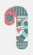 Мед. Конфета Снеговик в Чирок ручная вышивка холст 41 по Danji