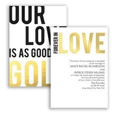 Forever in Love Foil Wedding Invitation by David's Bridal