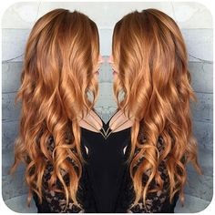 Golden copper hair color