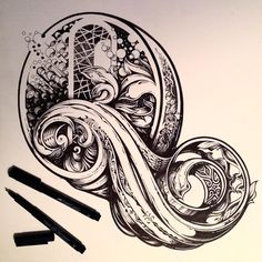 A blooming good few hours of inky doings. The letter Q. Form an orderly line…