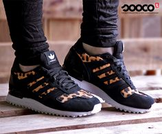 Adidas ZX 700 sneakers met leopard print