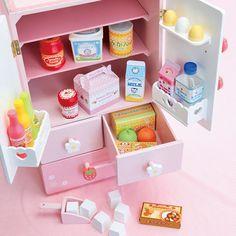 Бесплатная Доставка! детские Игрушки Делюкс Двойной Двери Холодильник Деревянные Игрушки Детские Игрушки Играть Дома Игрушки Подарок