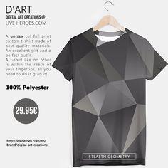 #abstract #fractal #poly #polygons #triangles #mesh #geometry #black #shapes #blackandwhite #tshirt #unisex #liveheroes #liveheroesshop #digitalartcreations
