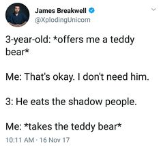 He eats the shadow people