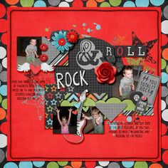 Digital Scrapbook Page by Tonya| You Rock Collab by Bella Gypsy and Ziggle Designs