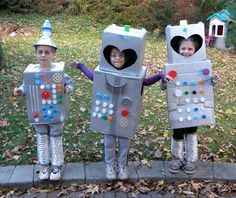Happy Halloween!!! Check out these awesome Robot costumes! Have a safe and fun Halloween!!