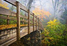 the bridge, place, smoki mountain