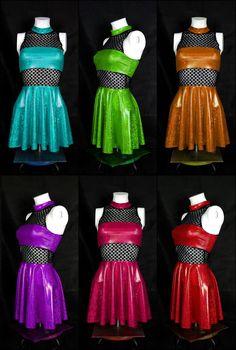 Fancy glitter raver dresses handmade by Ain't no Snail  #raver #dress #trance #glitter #handmade #shinydress