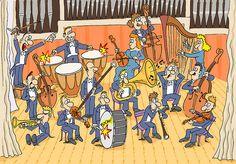 De Koninklijke harmonie is opgericht in nog steeds actief Making Musical Instruments, Drama Class, English Lessons, Toddler Preschool, Illustration, Images, Classroom, Teaching, Activities