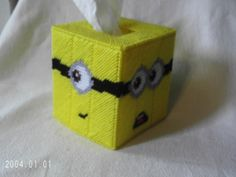 Despicable Me MINIONS Plastic Canvas Tissue Box Cover   SnarkyLittleStitcher - Novelty on ArtFire