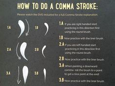 You Can Folk It! | Our how to paint a comma stroke. Carol goes through this technique in more detail in our Series 1 DVD. This is a great stroke to paint roses, daisies and other decoration. Our kits are available from www.folkit.co