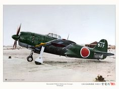 Kawanishi Shiden land-based fighter was adapted from a floatplane design in use with the Imperial Japanese Navy. Navy Aircraft, Ww2 Aircraft, Fighter Aircraft, Military Aircraft, Air Fighter, Fighter Jets, B 17, Imperial Japanese Navy, Aircraft Painting