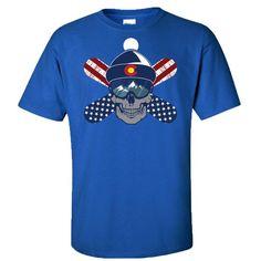 cool Colorado USA Snowboarding Shirt