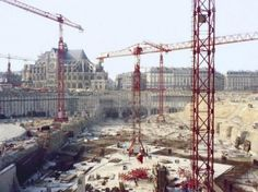 1975 construction du métro parisien chatelet les halles tunnels paris
