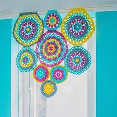 Good morning! This is a crochet mandala window blind Ihellip