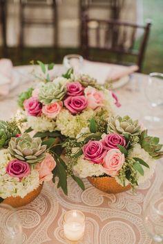 Featured Photographer: Amy Campbell Photography; Wedding reception centerpiece idea.