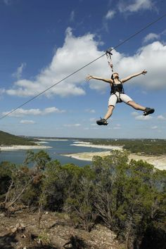 13 Things You Should Do In Austin- Zip line over Lake Travis Oh The Places You'll Go, Places To Travel, Places To Visit, Time Travel, Travel Destinations, Texas Roadtrip, Texas Travel, Zermatt, Stockholm