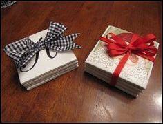 Handmade Coasters for Christmas | AllFreeHolidayCrafts.com I remember making ornaments using this method also, what an easy project!