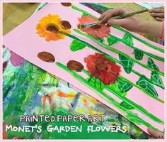 Monet's Garden Flowers – Painted Paper Art