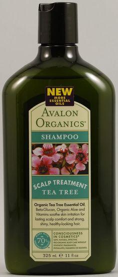 Avalon Organics Scalp Treatment Tea Tree Shampoo. Tea tree...of course....that oil is magic for hair and skin :>