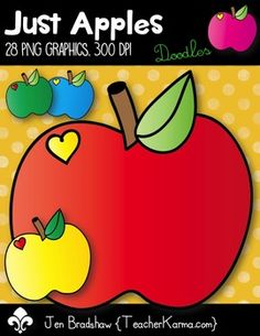 Just Apples Clip Art! You will LOVE these apples because they are BURSTING with color and FUN! They are absolutely perfect for adding to parent newsletters, literacy and writing stations, activities, printables and student worksheets, etc. Add a little sweetness to your teaching materials! *There are 28 hand drawn graphics included in this download.