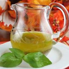 """Basil Vinaigrette Dressing   """"Guests were spooning it on their plates for dipping garlic bread!"""""""