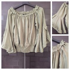 Hurry before stock runs out: Fun Sleeved, On -..., visit http://ftfy.bargains/products/fun-sleeved-on-off-shoulder-military-green-balloon-style-top?utm_campaign=social_autopilot&utm_source=pin&utm_medium=pin  #amazing #affordable #fashion #stylish