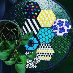 Marimekko inspired hama perler bead designs by jennimaarit_