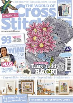Brand-new! Look out for your August 2015 issue no231 of The World of Cross Stitching! On sale in a supermarket or newsagent near you, or in the US, check out bookstores like Barnes & Noble, or BooksAMillion and craft stores like JoAnn's. If you fancy a digital edition (so easy and instant!) look in the AppStore (for iPad/ iPhone), in the GooglePlay store for Android, for the Nook, via Amazon for KindleFire or at Zinio for PC!
