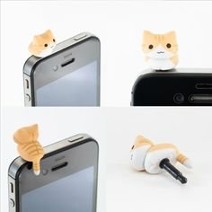cute kitty dust plug