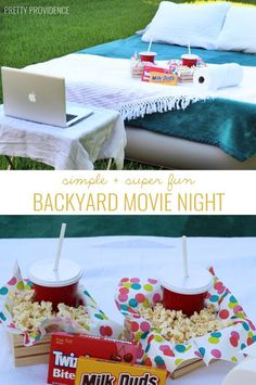 on my summer bucket list! backyard movie! grab an air mattress + laptop and have a fun movie night in your backyard!