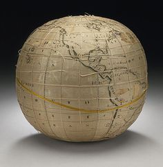 'Embroidered Terrestrial Globe by American artist Lydia Satterthwaite source: LACMA. via Yayo Globes Terrestres, World Globes, Globe Art, Map Globe, Textiles, Silk Painting, Female Art, Young Female, Textile Artists