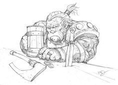 Tavern Dwarf by Max-Dunbar.deviantart.com on @DeviantArt