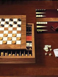 Gift the gamer in your life with hours of fun with the Ultimate Board Game Box that handsomely houses classic games like chess, checkers, backgammon, dominoes, and cribbage.